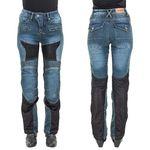 Damskie jeansowe spodnie motocyklowe W-TEC Bolftyna, Niebieski-czarny, S, kolor niebieski