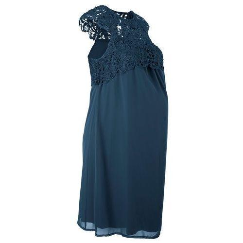 Sukienka ciążowa na uroczyste okazje ciemnoniebieski, Bonprix, 32-46