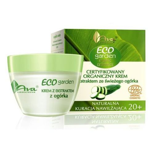 Ava eco garden certyfikowany organiczny krem z ekstraktem ze świeżego ogórka Ava laboratorium kosmetyczne