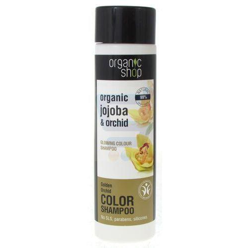 Organic shop szampon do włosów farbowanych i matowych złota orchidea 280 ml Siberica