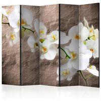 Parawan do mieszkania 5-częściowy - Nieskazitelność orchidei II 225 szer. 172 wys.
