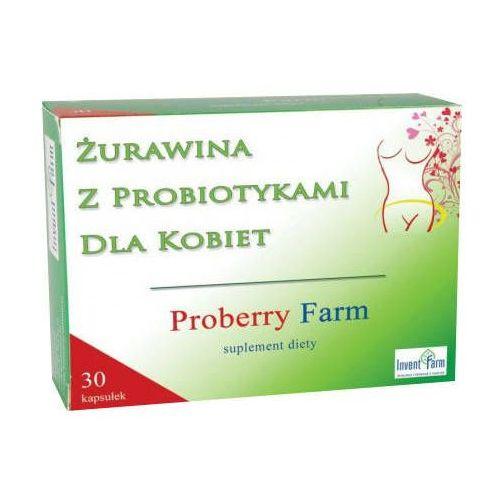 Kapsułki Proberry Farm Żurawina z probiotykami dla kobiet x 30 kapsułek