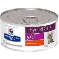 feline y/d thyroid care - 12 x 156 g marki Hills prescription diet