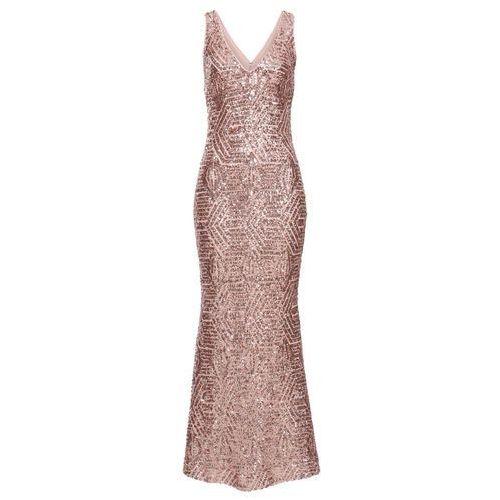 f3fcff650f Sukienka z cekinami bonprix różowy kwarc