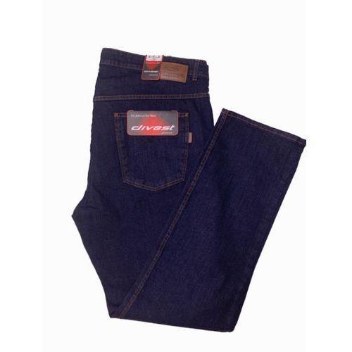 spodnie długie jeansowe model 510 108/34 ciemny jeans bawełna / lycra marki Divest