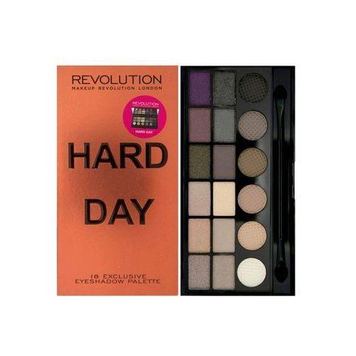 Makeup revolution palette hard day - paleta cieni do powiek 18 odcieni (5029066040541) - foto