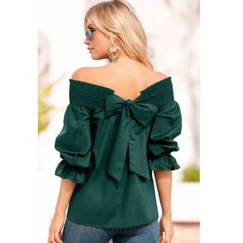 Damska bluzka VENELINA OLIVE, kolor zielony