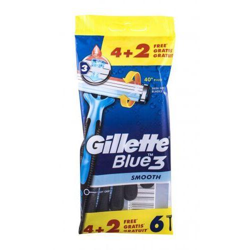 Gillette Blue3 Smooth maszynka do golenia 6 szt dla mężczyzn - Rewelacyjny rabat