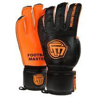 Rękawice bramkarskie Football masters classic black orange aqua grip mixcut