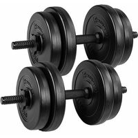 ZESTAW HANTLI 2 X 10 KG CIĘŻARKI 20 KG DO ĆWICZEŃ - 2x 10 kg / Bitumiczne / Czarne