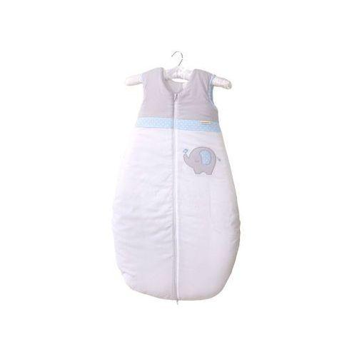 śpiworek niemowlęcy do spania do 18 m-ca haftowany słonik błękitny marki Mamo-tato