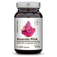 Tabletki Acerola Pink 25% - ekstrakt z owoców w tabletkach (120g) Aura Herbals