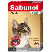 Dermapharm sabunol szara obroża przeciw pchłom dla kotów 35 cm Dostawa GRATIS od 99 zł + super okazje