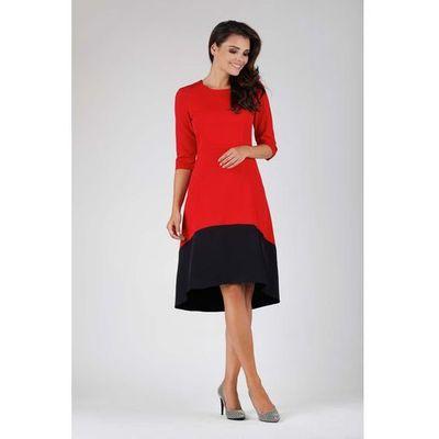 7919c7c4a5 suknie sukienki asymetryczna sukienka plisowana z dluzszym tylem a88 ...