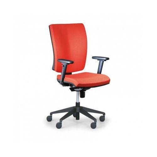 Krzesło biurowe Leon PLUS, czerwony - bez podłokietników