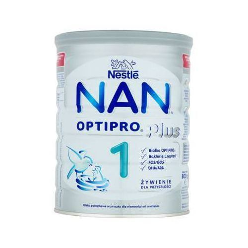 NESTLE NAN OPTIPRO Plus 1 800g Mleko początkowe w proszku dla niemowląt od urodzenia, puszka