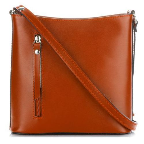 fd4fca9b369d2 Genuine leather Klasyczna torebka listonoszka skórzana pelle ruda (kolory)