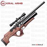 Kral arms Wiatrówka pcp puncher nemesis w bullpup 4,5mm / 5,5mm - orzech, regulator prędkości, magazynek, dwie lufy wymienne