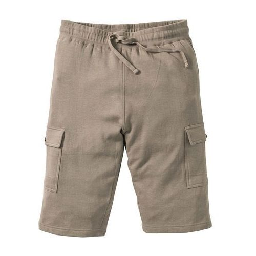 955b7489feba Bermudy dresowe Slim Fit bonprix jasnooliwkowy