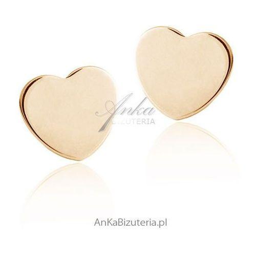 Kolczyki serduszka złote małe Anka biżuteria