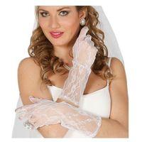 Rękawiczki białe koronkowe