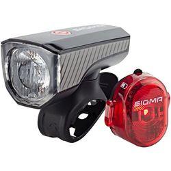 SIGMA SPORT Aura 40 Zestaw oświetlenia USB/Nugget II czerwony/czarny 2018 Oświetlenie rowerowe - zestawy