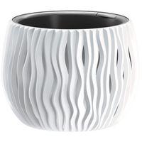 Doniczka Sandy Bowl z wkładem 18 cm biała