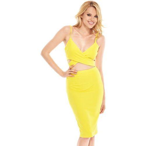 f573c11870 Sukienka vicky w kolorze żółtym (Sugarfree) - sklep SkladBlawatny.pl
