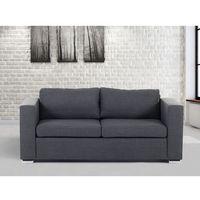 Sofa ciemnoszara - trzyosobowa - kanapa - sofa tapicerowana - HELSINKI