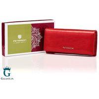 Czerwony skórzany portfel damski peterson pl467 red