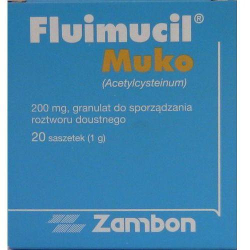 Roztwór Fluimucil Muko Junior 200 mg 20 sasz