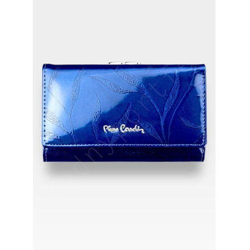 5ded2eb433a26 Pierre Cardin Pierre cardin Portfel damski skórzany niebieski w liście 108  - niebieskie liście
