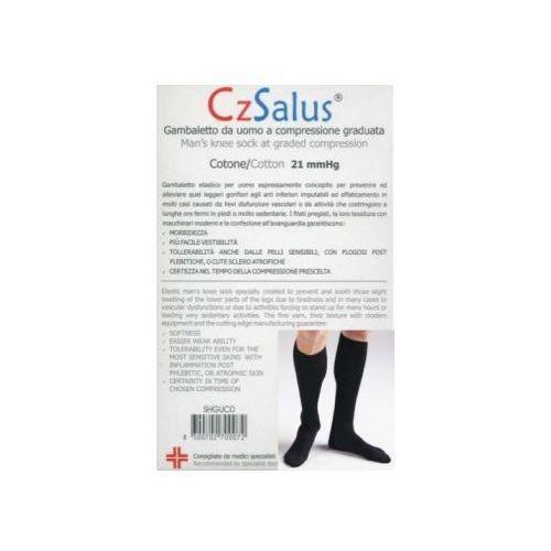 Podkolanówki męskie przeciwżylakowe bawełniane z nanoSREBREM I klasy kompresji, ucisk 21 mmHg - CzSalus