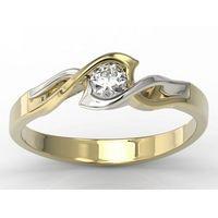 Węc - twój jubiler Pierścionek z żółtego i białego złota z brylantem lp-2720zb - żółte i białe \ diament