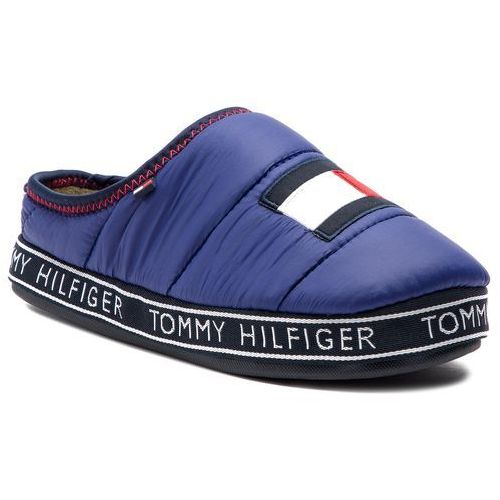 9a2c9d9031340 Tommy Hilfiger Kapcie - flag patch downslipper fm0fm02004 solidateblue 435