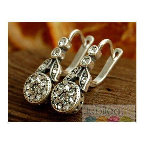 WIEDEŃ - srebrne kolczyki z kryształami