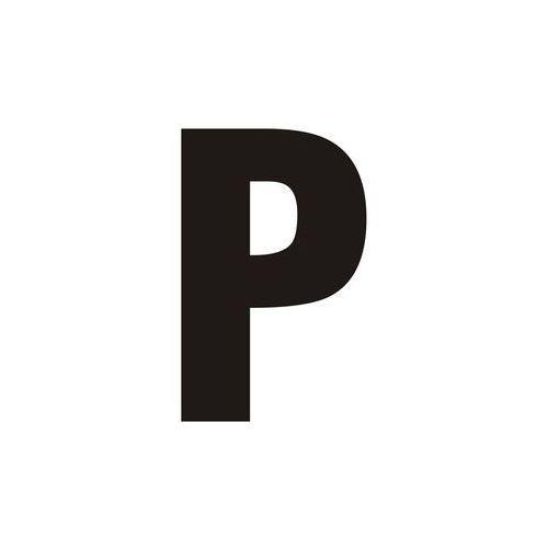 Top design Litera p (czarny/biały)