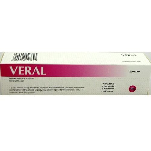 Veral żel 0,01 g/g 100 g