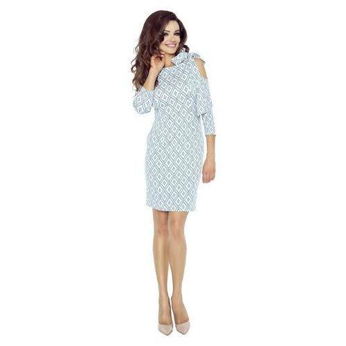 Sukienka ołówkowa z wiązaniem na ramieniu marki Numoco