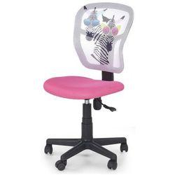 Dziewczęcy fotel obrotowy cziko - różowy z zebrami marki Profeos.eu