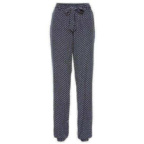658625d0c5d7e8 Szerokie spodnie niebieski wzorzysty (bonprix) - sklep SkladBlawatny.pl