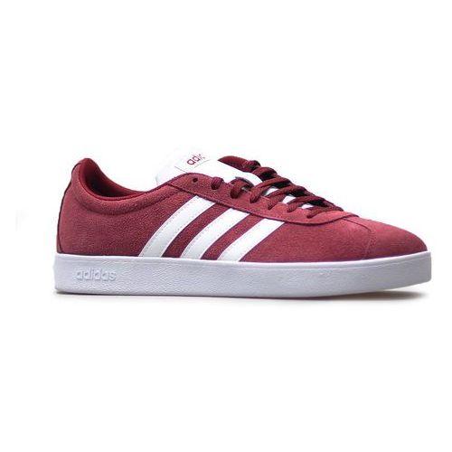 Buty Adidas VL COURT 2.0 Bordowe zamsz, kolor czerwony