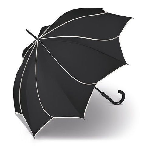 Pierre Cardin Sunflower Black & White długi parasol automatyczny Long AC / czarny - czarny
