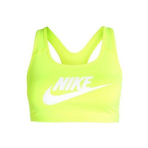 Nike Performance PRO CLASSIC SWOOSH FUTURA Biustonosz sportowy volt/white