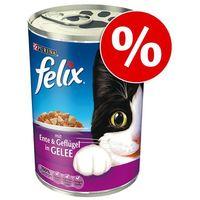 30 x 400 g Felix w puszkach w super cenie! - Kąski w galarecie, kurczak (4000487210745)