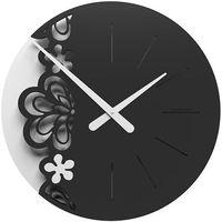 Zegar ścienny merletto duży  czarny / biały marki Calleadesign