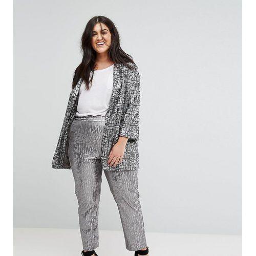 Silver textured trouser - silver, Elvi