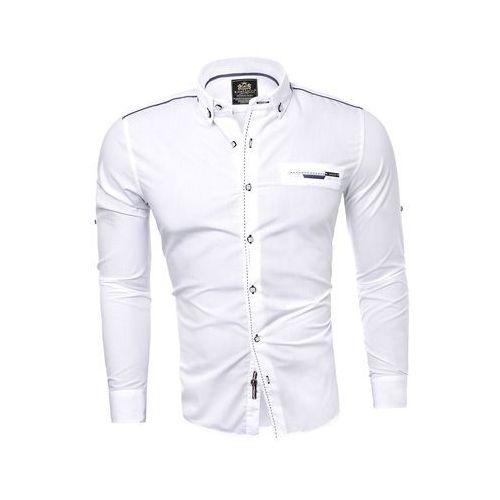 a1a2425a23fa87 Koszula męska (RL39) - BIAŁY, Koszula męska (RL39) - BIAŁY (Risardi ...