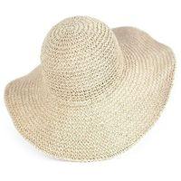 Kapelusz damski słomkowy plażowy na lato beżowy