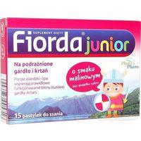 Pastylki Fiorda JUNIOR o smaku malinowym 15 pastylek do ssania